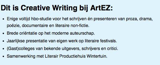 Artez creative writing
